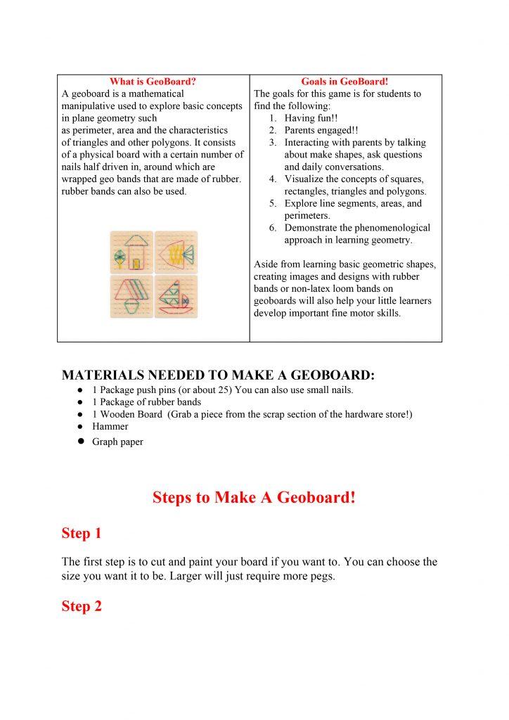 Make a GeoBoard!